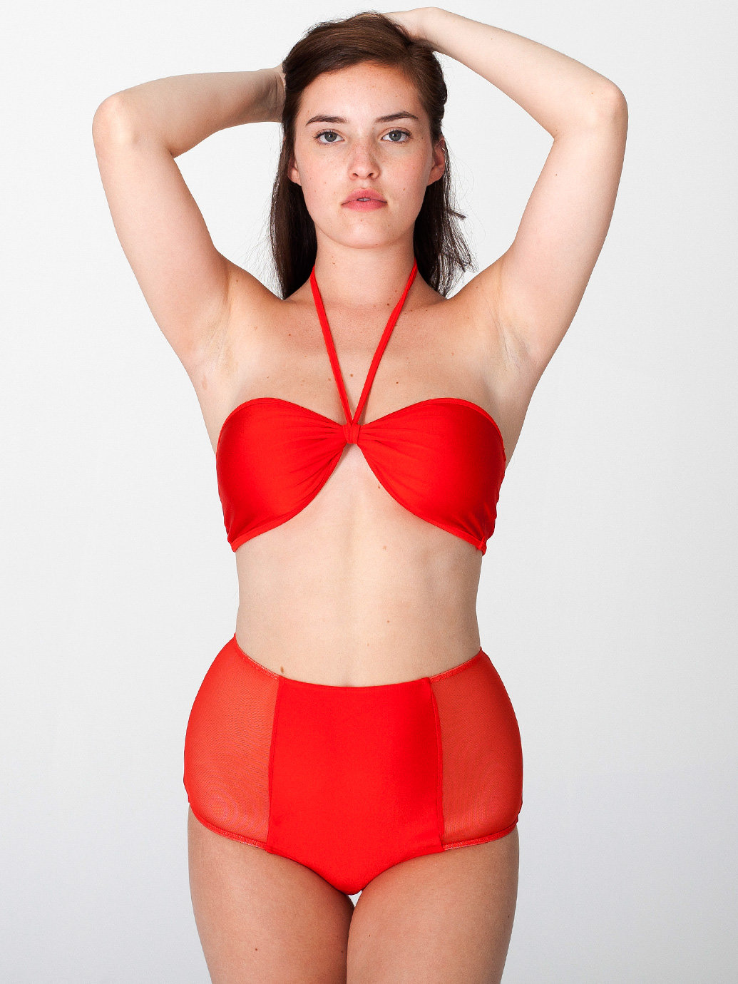Micro-Mesh Nylon Tricot High-Waist Brief | American Apparel