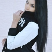 jacket,black,nyy,new york city,yankees,athletic,baseball jacket,black and white