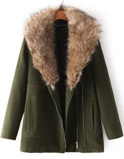 Boxa fur collar coat