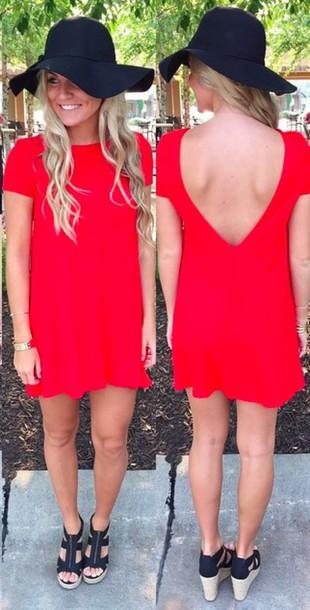 backless t shirt dress