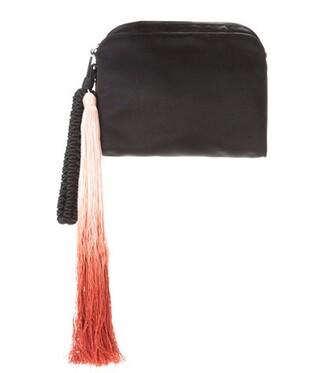clutch silk black bag