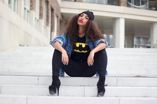 shirt batman t-shirt top black statement superheroes print blogger