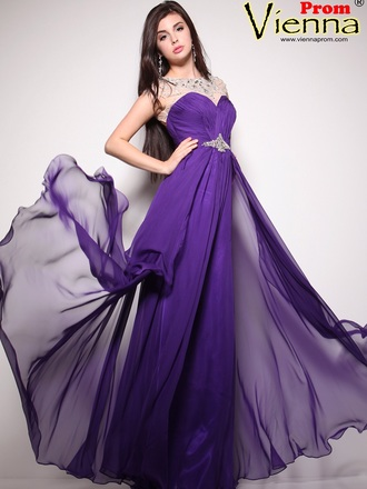dress flowing long chiffon prom dresses vienna purple dress sheer beaded cap sleeves sweetheart dress a line dress a line prom gowns sexy keyhole back prom dresses