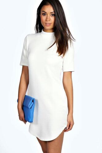 dress curved hem bodycon dress white dress berry dress white berry