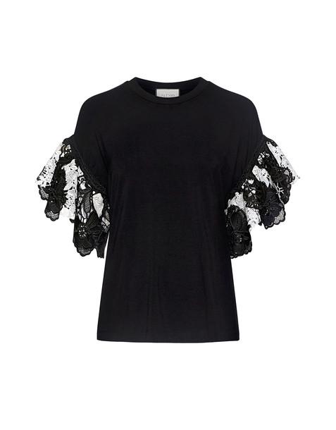 Alexis t-shirt shirt t-shirt lace white black top