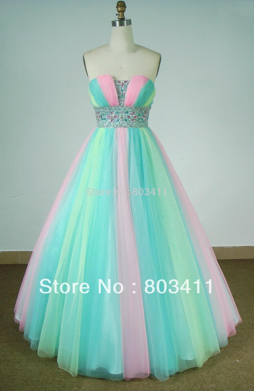 2019 year for girls- Wedding rainbow dress for sale