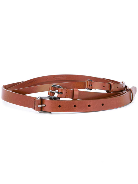 A.F.VANDEVORST women belt leather brown