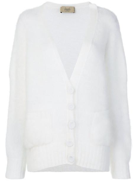 Maison Flaneur cardigan cardigan women spandex mohair white sweater
