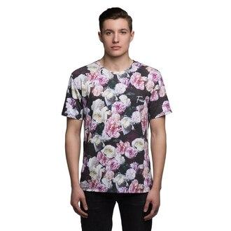t-shirt roses full print flowers floral fusion printed t-shirt menswear mens t-shirt