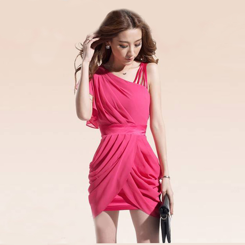 2013 free shipping woman  fashion dresses solid color slim Sleeveless Strap evening dress high quality party dress SA09-57-ZZKKO