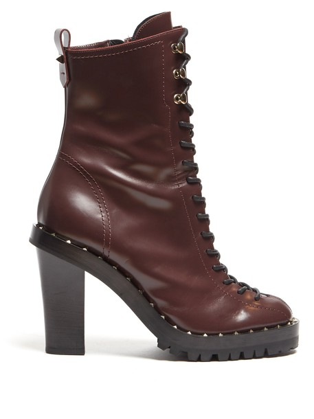 Valentino leather ankle boots ankle boots leather burgundy shoes