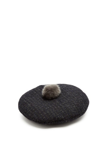 Maison Michel new embellished beret grey hat