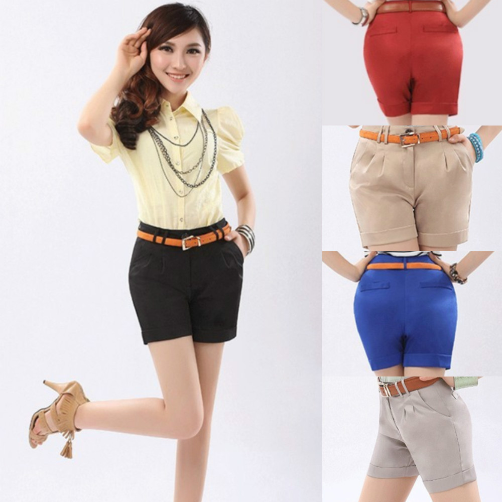 New 2013 Hot Selling Cheap Plus Size High Waisted Shorts, Women Army Fatigue Pants, Woman Big Size Plus Shorts-in Shorts from Apparel & Accessories on Aliexpress.com