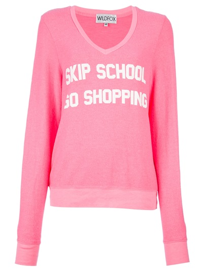 Wildfox 'skip School Go Shopping' Sweater -  - Farfetch.com