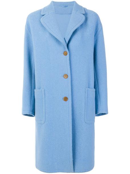 Ermanno Scervino coat women blue wool
