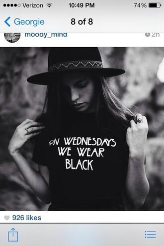 shirt on wednesday we wear black grey black shirt