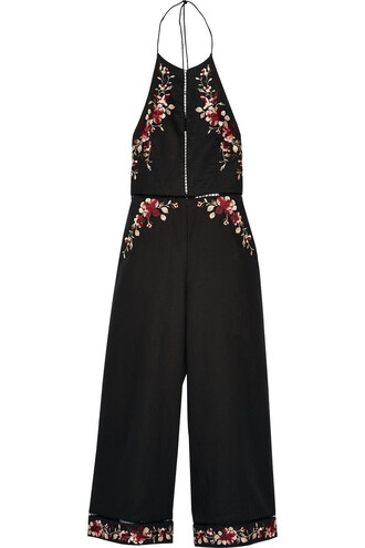 jumpsuit embroidered cotton black