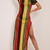 PrettyLittleThing Womens Ladies Rihanna Striped Side Split Knitted Maxi Dress