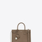 Classic baby sac de jour bag in taupe grained leather