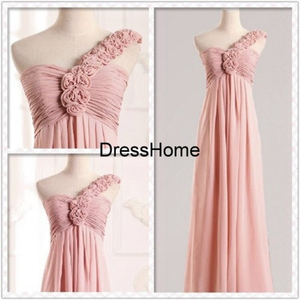dress blush bridesmaid dress one shoulder bridesmaid dress blush prom dress simple prom dress bridesmaid