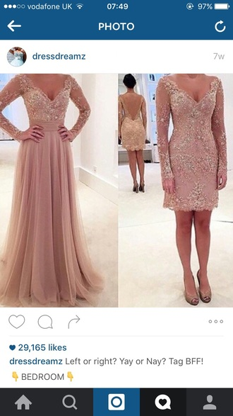 dress wedding dress prom dress pink detailed beading