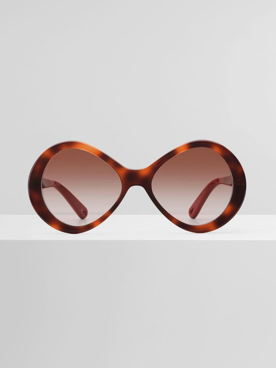 CHLOÉ Bonnie sunglasses Women's Havana & light brown lens 100% Acetate