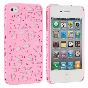 Light Pink Birds Nest Snap-On Hard Back Cover Case for Apple iPhone 4 4G 4S: Amazon.co.uk: Electronics