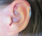 Ear cartilage helix cuff