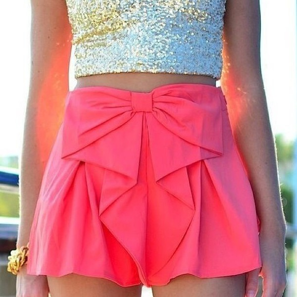 skirt pink bow skirt