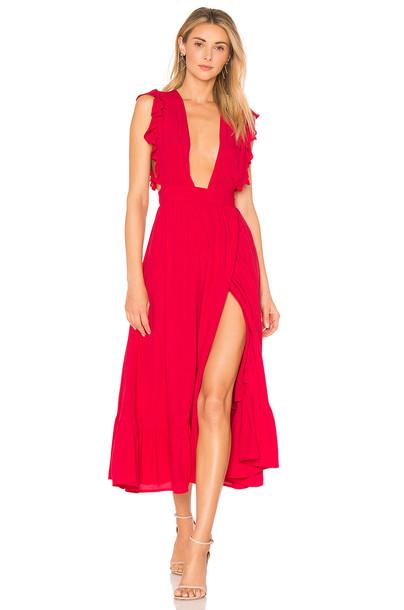 MAJORELLE dress red