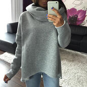 shirt,women,long sleeves,shawl,shawl collar,sweatshirt,sweater,girl,girly,winter outfits,winter holiday,holidays,warm,fall outfits,grey,short,jeans,lovley,lovely,loose,loose shirt,loose sweater,fashion,gorgeous,casual,winter sweater,winter dress,fall sweater,grey sweater,grey top,streetwear,streetstyle,casual t-shirts
