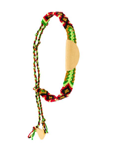LUCY FOLK friendship bracelet metal women gold cotton jewels