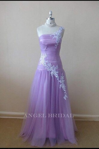 dress purple prom prom dress prom gown long prom dress lace one shoulder lavender lavender dress