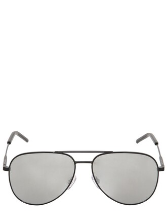 classic sunglasses aviator sunglasses silver black