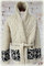 Stunning pure organic hand knit virgin wool cardigan