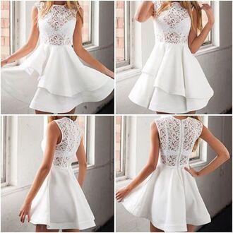 dress lost souls lace dress white lace dress flowy dress summer dress white summer dress stunning dress beautiful floral lace floral lace dress layered dress white dress elegant dress