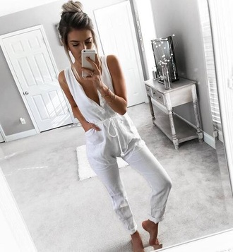 jumpsuit white casual sexy