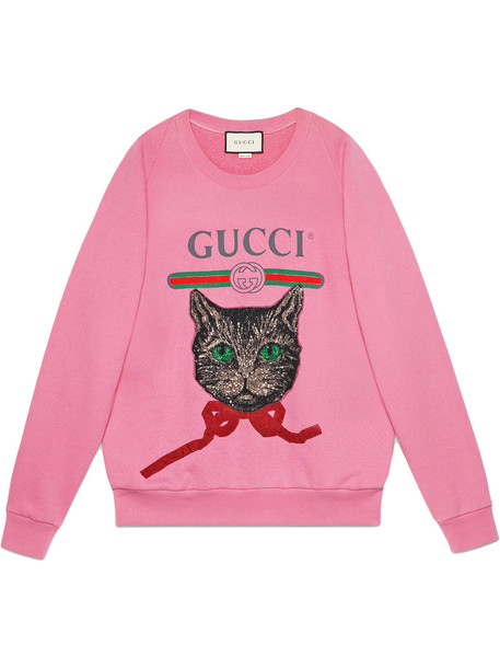 gucci sweatshirt women cotton purple pink sweater