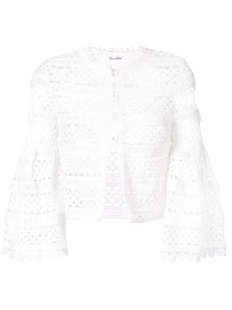oscar de la renta jacket women white cotton