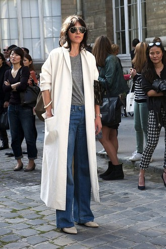 le fashion image blogger sunglasses t-shirt jeans