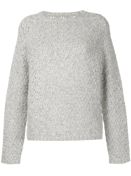 Nili Lotan jumper women silk grey sweater