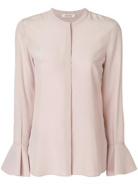 Dorothee Schumacher blouse women nude silk top