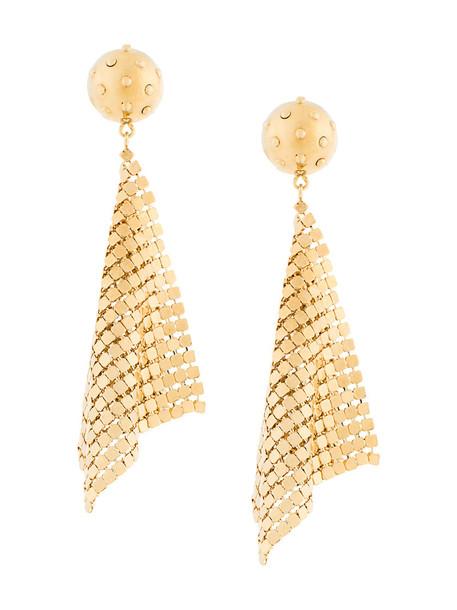 Prada metal mesh women earrings grey metallic jewels