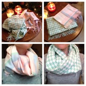 scarf,water colors,women scarfs,wool,houndstooth