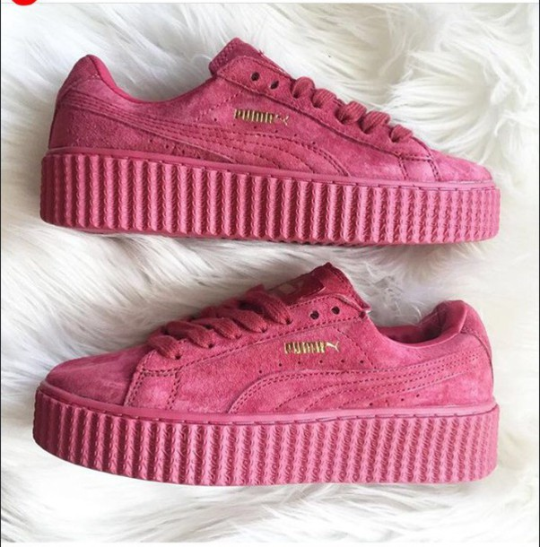 puma pink shoes. shoes puma pink sneakers creepers a