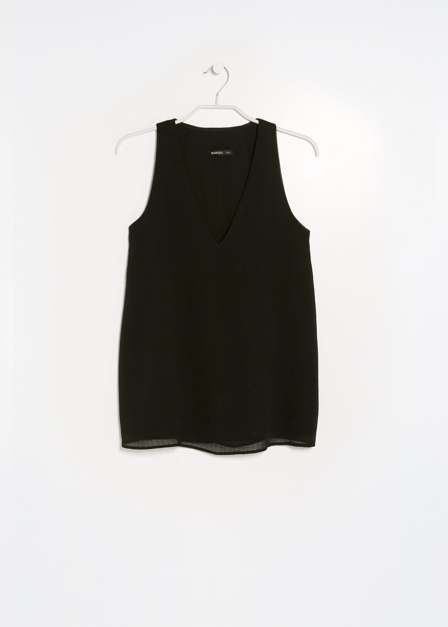 Textured v-neck top - Blouses and shirts for Women | MANGO