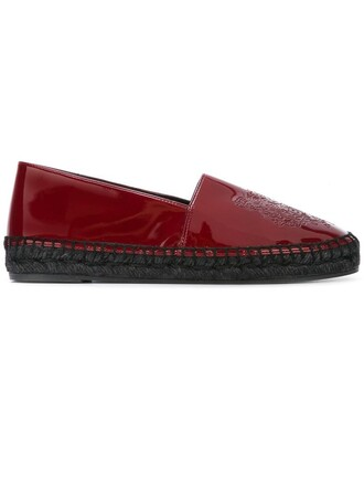 women tiger espadrilles leather red shoes