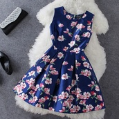 cute dress,light pink flowers,dark blue dress,dress,blue dress,dresses up,amazing,lovely,flowers,pink flowers,lovely dress,floral dress,pink dress,pink flowers bright,fashion