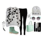 sweater,weheartit,bag,hat,shoes