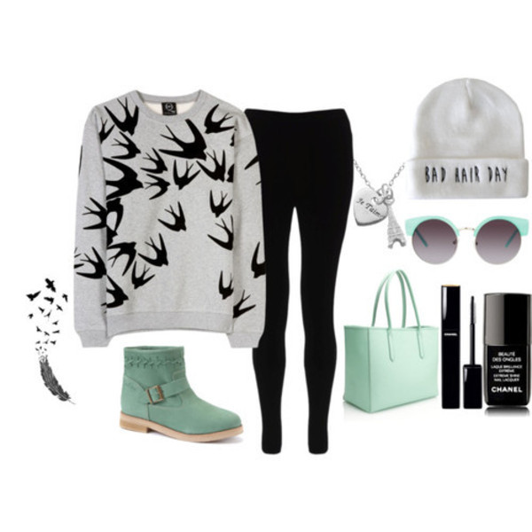 sweater weheartit bag hat shoes